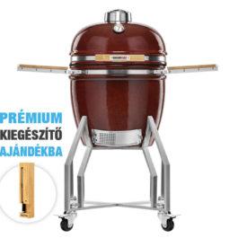 Kamado Chef 1900 Prestige Red Smooth (rozsdamentes acél) – csomagakció