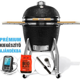 Kamado Chef 2200 Prestige Diamond Black (rozsdamentes acél) – Csomagakció